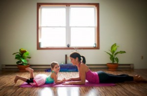 yoga mom daughter