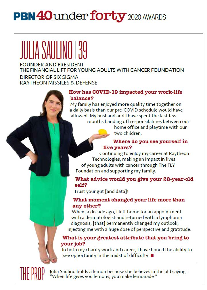 "Julia's ""40 Under 40"" profile"